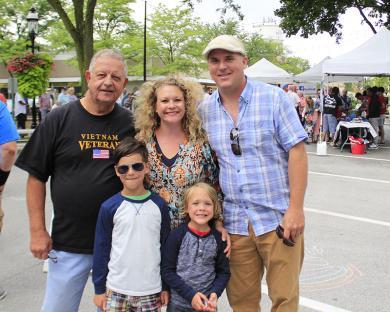 Three Homewood generations: From left, back row, Terry Elashik; his daughter, Karen Jolivette; her husband, Jim Jolivette; and, front row, Justin and Callan Jolivette.