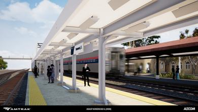 A look at the plan for a new Amtrak boarding platform.