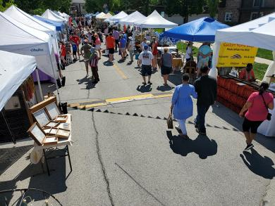 Village officals were pleased with the number of vendors and visitors to the first festival in more than a year.