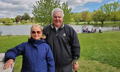Jeanette and Jim DePhillips are at the 2021 McDowell Fishing Derby, an event Jeanette started in honor of her late first husband, William McDowell. (EC)