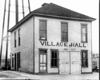 : Homewood's first village hall as it appeared shortly before it was demolished in 1939 to make way for the village hall that is still in use at 2020 Chestnut Road.