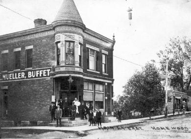 27. Mueller's Saloon, built in 1891.